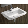 Rectangular White Ceramic Wall Mounted or Self Rimming Bathroom Sink MCITY8311