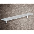 Round Sandblasted Glass Bathroom Shelf 3519-13