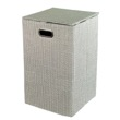 Rectangular Laundry Basket in Grey or Moka LA38