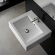 Square White Ceramic Wall Mounted or Vessel Sink 8007/B
