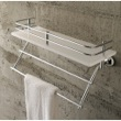 Plexiglass 13 Inch Bath Bathroom Shelf With Railing And Towel Bar 1538