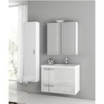 Bathroom Vanity, ACF ANS309, 31 Inch Glossy White Bathroom Vanity Set