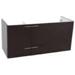 Vanity Cabinet, ACF L412WE, 47 Inch Wall Mount Wenge Double Bathroom Vanity Cabinet