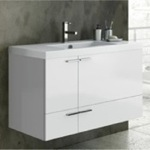 Bathroom Vanity, ACF ANS34, 39 Inch Vanity Cabinet With Fitted Sink