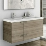 Bathroom Vanity, ACF ANS39-Larch Canapa, 47 Inch Vanity Cabinet With Fitted Sink
