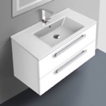 Bathroom Vanity, ACF DA05, 33 Inch Vanity Cabinet With Fitted Sink