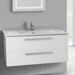 Bathroom Vanity, ACF DA06, 38 Inch Vanity Cabinet With Fitted Sink