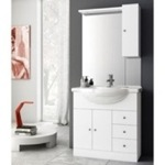 Bathroom Vanity, ACF LON02, 32 Inch Glossy White Bathroom Vanity Set
