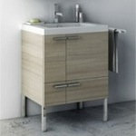 Bathroom Vanity, ACF ANS30-Larch Canapa, 23 Inch Vanity Cabinet With Fitted Sink