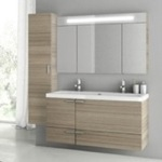Bathroom Vanity, ACF ANS210, 47 Inch Larch Canapa Bathroom Vanity Set