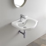 Bathroom Sink, CeraStyle 066200-U, Small Ceramic Wall Mounted or Drop In Sink