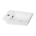 Bathroom Sink, CeraStyle 071000-U, Rectangle White Ceramic Drop In Sink