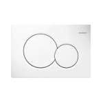 Geberit Dual Flush Actuator Plate in Alpine White