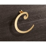 Gold Towel Ring Crescent Shape