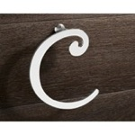 Towel Ring, Gedy 3370-13, Chrome Towel Ring Crescent Shape
