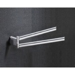 14 Inch Chrome Double Arm Swivel Towel Bar