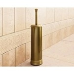 Toilet Brush, Gedy 7533-44, Round Polished Bronze Toilet Brush Holder