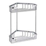 Wire Corner Double Shower Basket