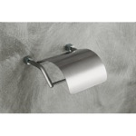 Toilet Paper Holder, Gedy 3125-40, Satin Nickel Toilet Roll Holder with Cover