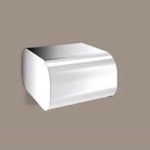 Round Chrome Toilet Paper Dispenser With Cover