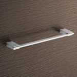 Towel Bar, Gedy 3821-35-13, 14 Inch Square Polished Chrome Towel Bar