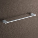 Towel Bar, Gedy 3821-45-13, Square 18 Inch Polished Chrome Towel Bar