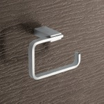 Square Brass Toilet Paper Holder In Polished Chrome
