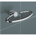 Oval Wall Mounted Chrome Soap Holder