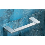 Square 12 Inch Polished Chrome Towel Bar