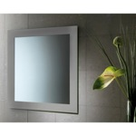 24 x 28 Inch Silver Vanity Mirror With Lacquered Frame