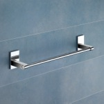 Towel Bar, Gedy 7821-35-13, 14 Inch Polished Chrome Towel Bar