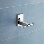 Bathroom Hook, Gedy 7826-13, Polished Chrome Double Hook