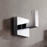 Modern Square Wall Mounted Chrome Bathroom Hook