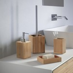 Bambu Natural Wood Bathroom Accessory Set