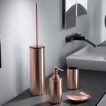 Rose Gold Finish Four Piece Bathroom Accessory Set