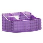 Make-up Tray Made From Thermoplastic Resin With Lilac Finish