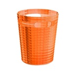 Free Standing Waste Basket Without Cover in Orange Finish GL09-67