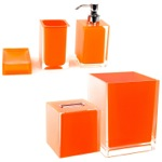 Orange 5 Piece Accessory Set