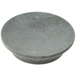 Round Soap Dish Made From Stone in Black Finish