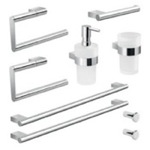 Wall Mounted Chrome Hardware Set