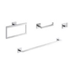 Bathroom Hardware Set, Gedy ELBA1200, Modern Bathroom Accessories Set