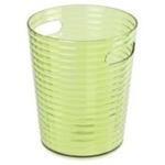 Free Standing Waste Basket Without Cover in Acid Green Finish