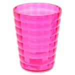 Round Pink Toothbrush Holder