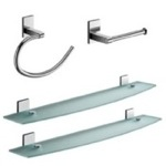 Chrome 4 Piece Accessory Hardware Set