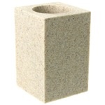 Square Free Standing Toothbrush Tumbler in Natural Sand Finish