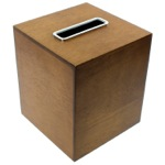 Tissue Box Made From Wood in a Brown Finish PA02-31