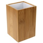 Wood Square Toothbrush Holder