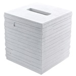 White Free Standing Tissue Box Cover