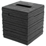 Square Black Tissue Box Cover