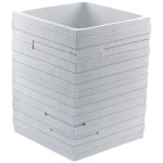 White Free Standing Waste Can